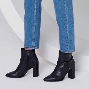 NIB Ecco Shape 75 Pointy Block Heel Ankle Boots 40